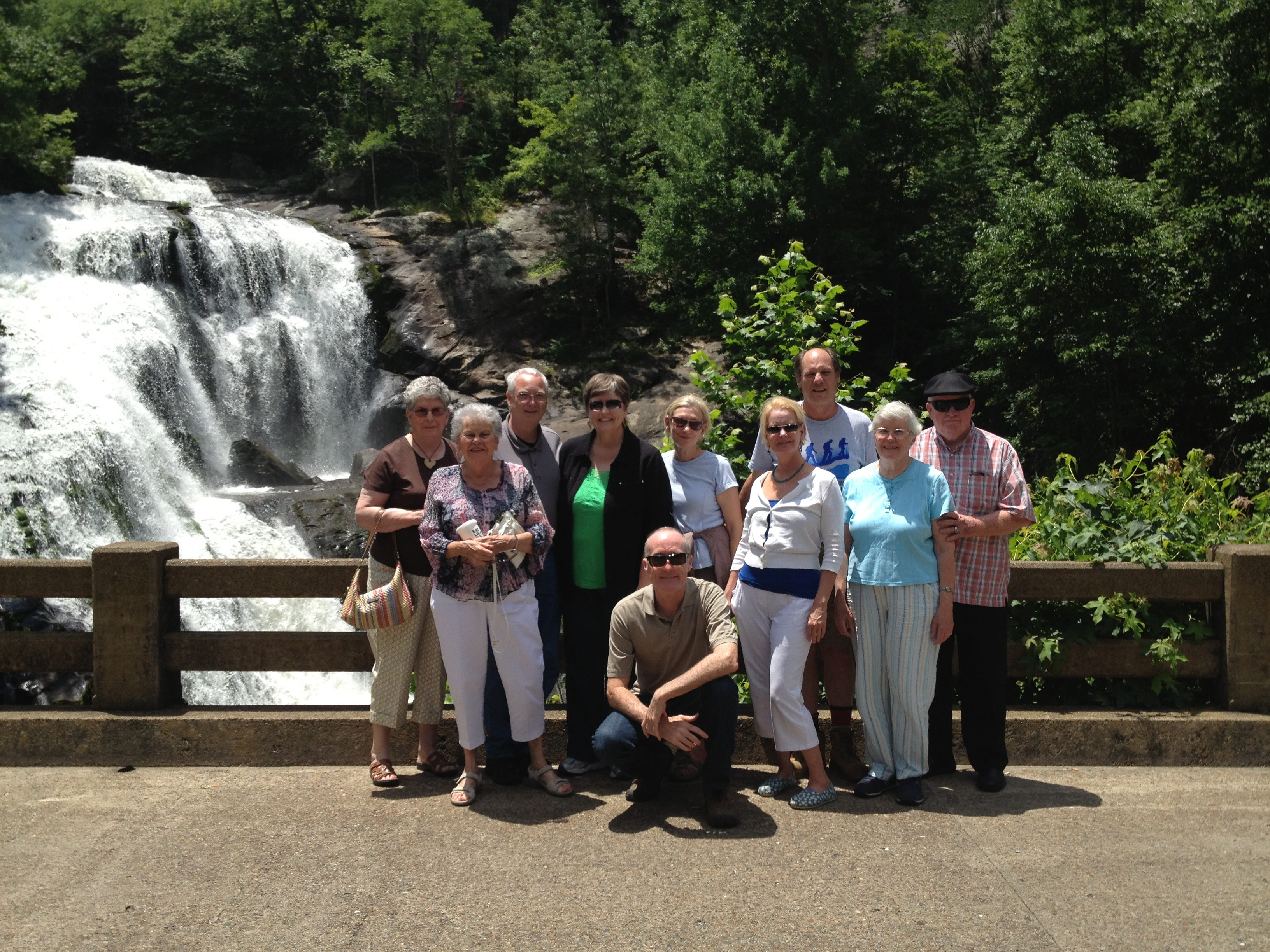 2nd Presbyterian Church goes on a summer outing to Bald River Falls