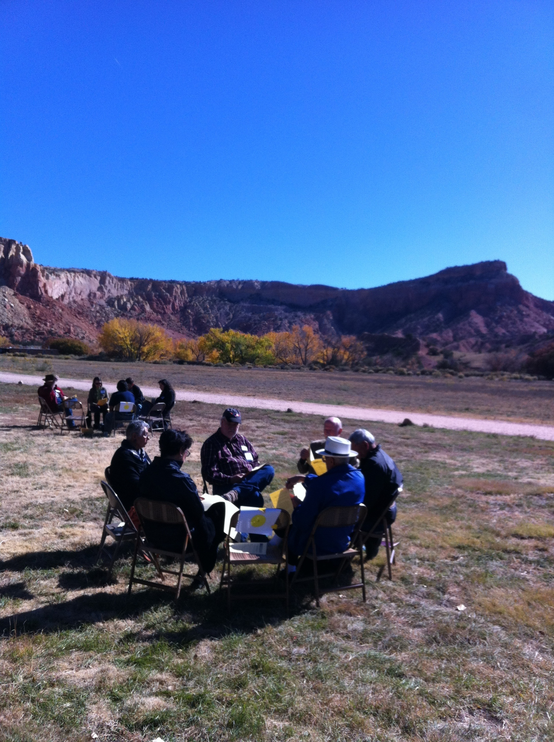 Discussions with Ghost Ranch Backdrop
