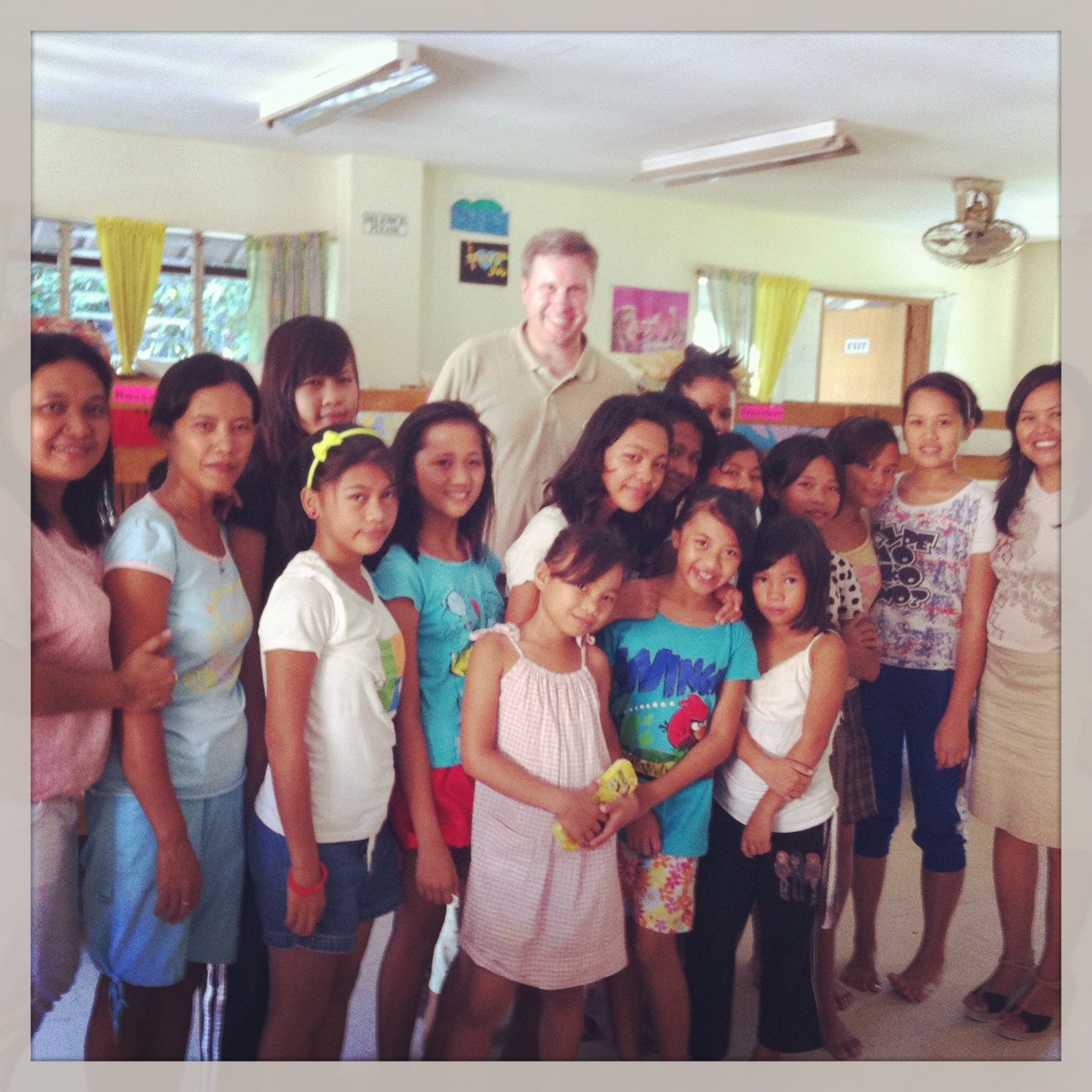 With several girls who live at the LCP Orphanage