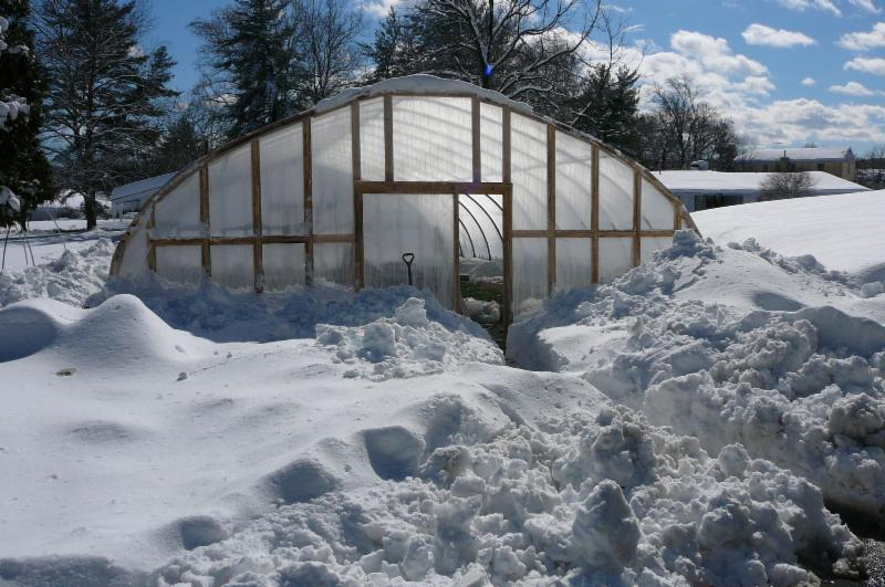 SPC greenhouse in the snow