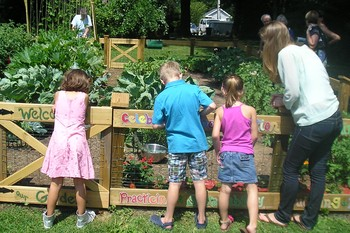 Intergenerational garden welcomes children of all ages