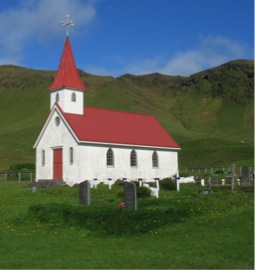 small, country church