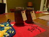 two jars of jam