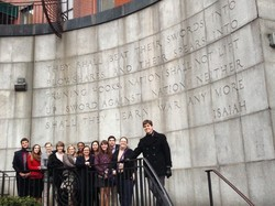 Elon University at the Isaiah Wall
