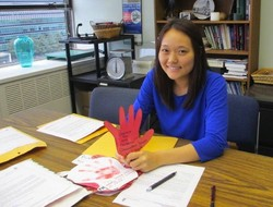 Esther Lee with Red Hands