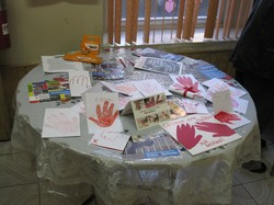 Red Hands display