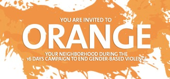 Invitation to Orange your neighborhood