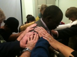 Commissioning by laying on of hands