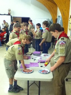 Scouts make red hands