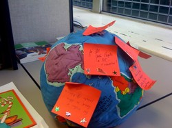 Hug-a-Planet with hopes on Post-it-Notes