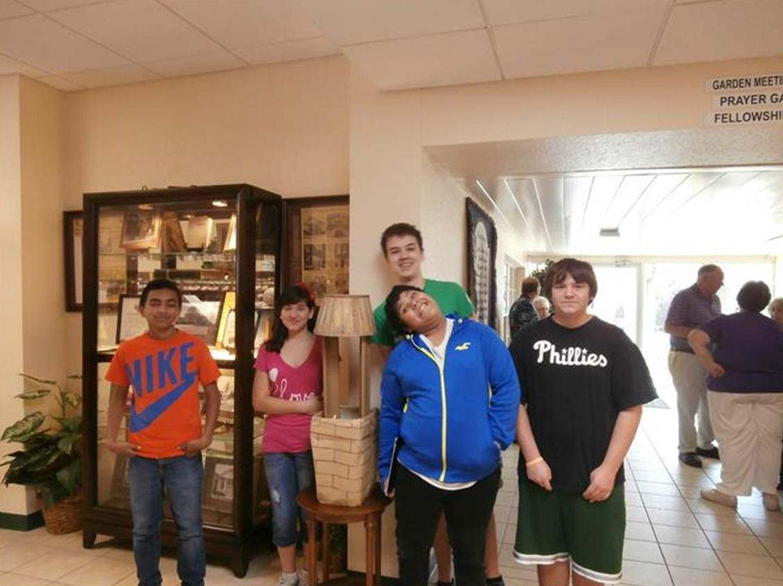 Youth from First Presbyterian Church in Mission, TX with their Wishing Well