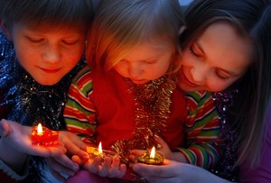 Children with candles