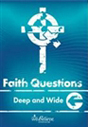 Faith Questions: Deep and Wide cover (bright ocean blue with a white cross and letters)