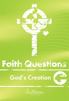 Faith Questions: Church cover (light green with a white cross and letters)