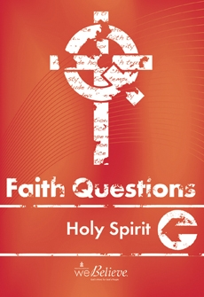 Faith Questions: Holy Spirit cover (dark red with a white cross and letters)