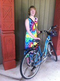 Kadie Todd-Durfee bikes to church