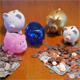 Piggy banks and money