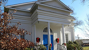 "<p class=""x_MsoNormal"">Nacoochee Presbyterian Church is located in a  beautiful rural setting in north Georgia with open, rolling pastures  flanked by the Blue Ridge Mountains. Our doors are open to everyone.</p>"