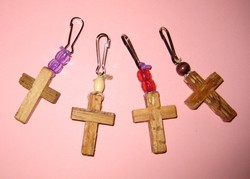 Photo of several wooden crosses