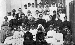 Lady missionaries and teachers in Cairo. From The American Mission in Egypt, 1854 to 1896, A. Watson (1898)