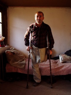 Disabled Karabakh War veteran with hope in his eyes