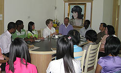Meeting with the teachers at Trang Christian School