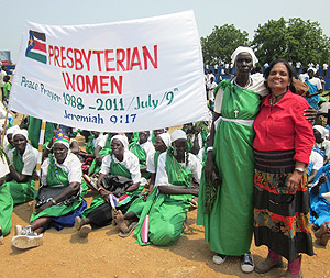 Aliamma,with the Presbyterian Women at the Freedom Square-ground.