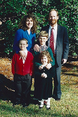 The Harvey family at their commissioning in December 1996
