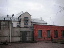 Front view of a Lithuanian men's prison.