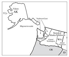 Map Synod Alaska-Northwest