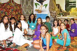Children at Holy Trinity VBS learn about the lives of the Israelites in Babylon.Photo by Hendrik Shanazarian