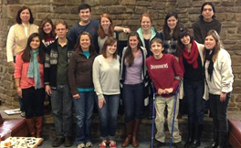 United Campus Ministry students pose for a picture during a Monday lunch.