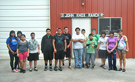 House of Teens youth at John Knox Ranch for a service project Photo by Lita Simpson