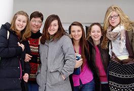 Jane and students of LCC International University