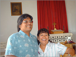 Nelson and Gwen Capitan, members of Laguna United Presbyterian Church Photo by Judy Wellington