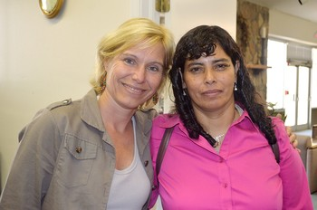 Gladys (right) with the Rev. Grytsje Courperus, Independent Church of Brazil and representative of the World Council of Reformed Churches.