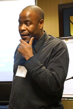 Alonzo Johnson, PC(USA) 'Educate a Child, Transform the World' initiative coordinator, speaks at the January 2016 meeting of APCE in Chicago.