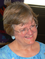 The Rev. Barbara Anne Keely smiling