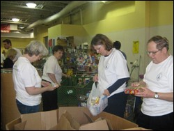 Volunteers at The Foodbank of Southeastern Virginia