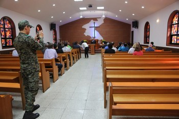 At the DMZ, an ecumenical worship service calls for unification between North and South Korea.