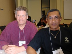 Dan Turk (left), a mission co-worker in Madagascar, and the Rev. Hubert Rakotoarivony