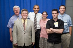 Mike Ferguson with President Obama