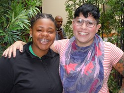 Kasheena Ross (left) and Mallory Hanora of Reflect and Strengthen joined SDOP at its September meeting.