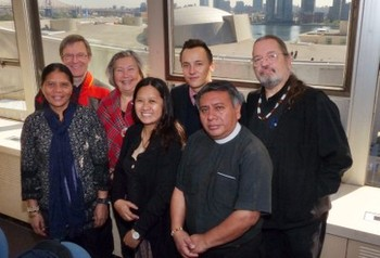 The WCC Indigenous People's representatives in New York for the UN World Conference on Indigenous Peoples.