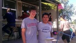 James and Hugo, bi-national interns of Frontera de Cristo.