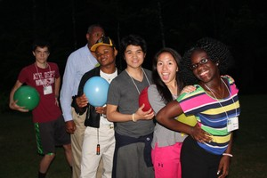 Youth make connections at a Pathways retreat.