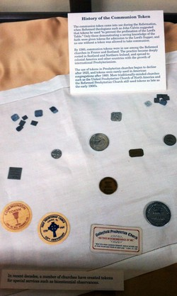 Communion tokens from the Presbyterian Historical Society collection.