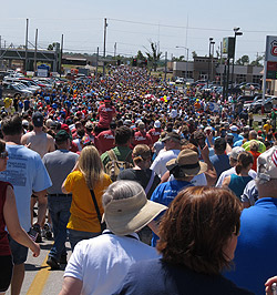 Over 8,000 people attended the walk in Joplin