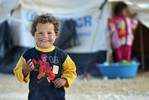 Syrian boy smiling