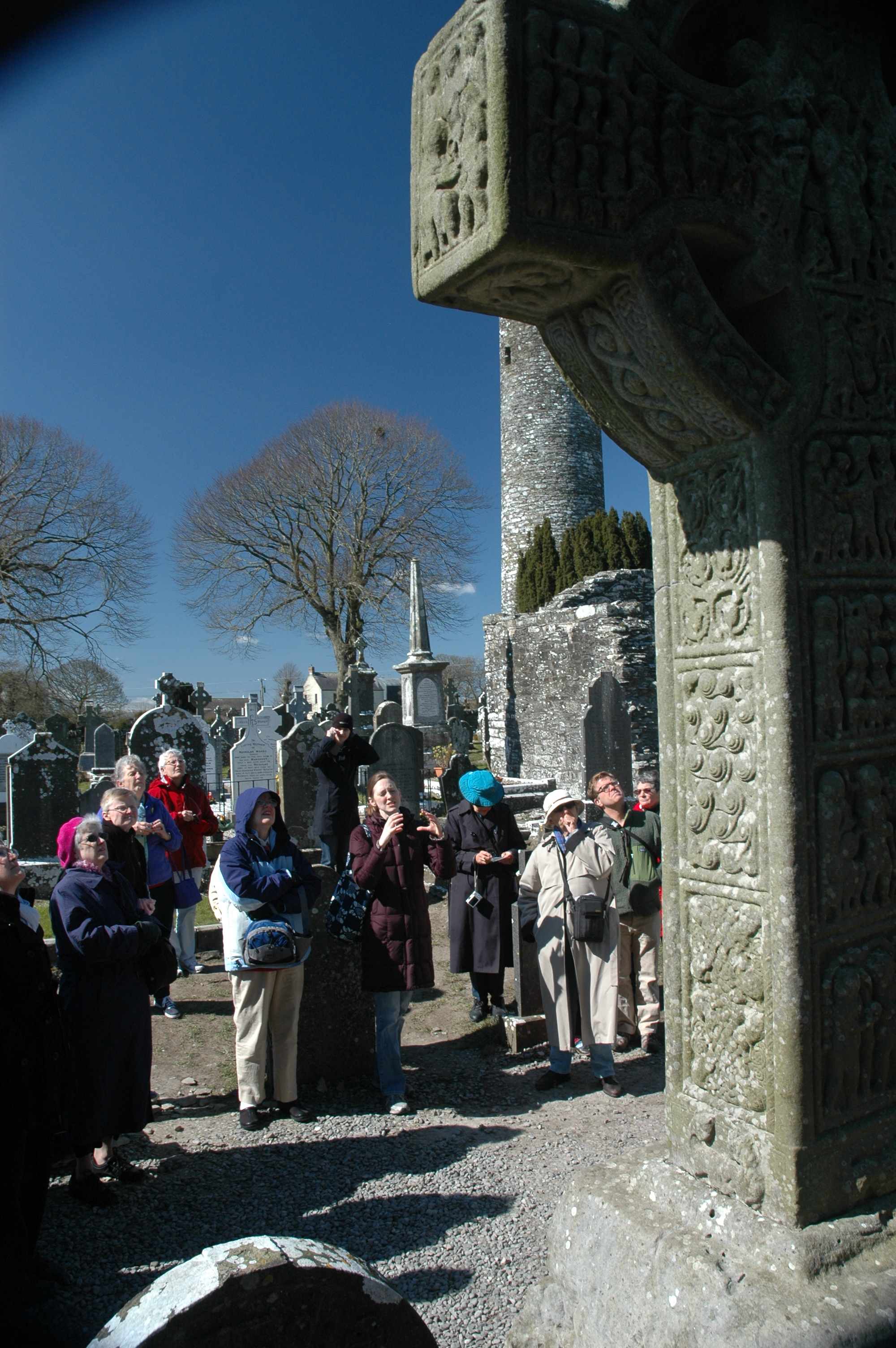 The group visits Monstarbuice, the site of an ancient Celtic community